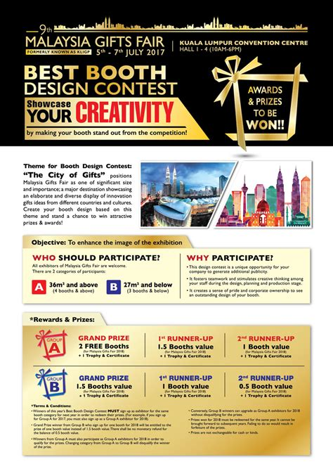 design competition in malaysia best booth design contest malaysia gifts fair 2017