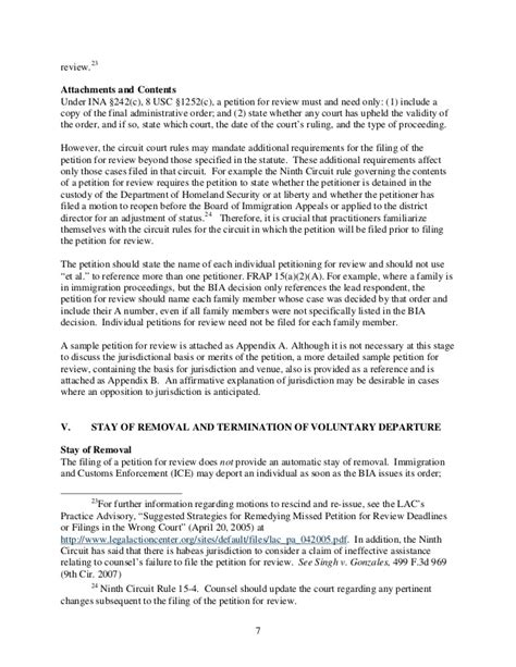 Petition Letter Immigration How To File An Immigration Petition For Review
