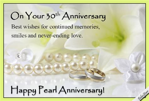 30th Wedding Anniversary Card Verses by Image Gallery Pearl Anniversary