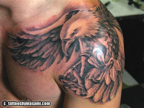 eagle shoulder tattoo eagle tattoos page 31