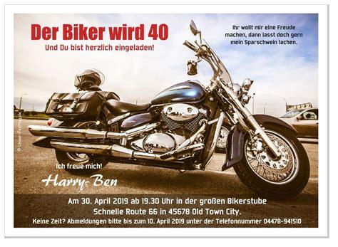 Motorrad Bilder Zum Geburtstag by Lustige Und Witzige Geburtstagseinladungen Unser Festtag