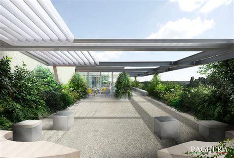 terrazze a una terrazza moderna un disegno geometrico decorato dalla