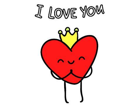 imagenes grandes de i love you dibujo de coraz 243 n i love you pintado por en dibujos net el