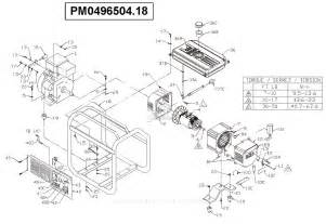 powermate formerly coleman pm0496504 18 parts diagram for generator parts