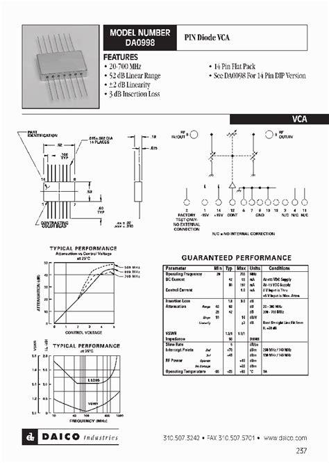 microwave oven diode datasheet da0998 1231356 pdf datasheet ic on line