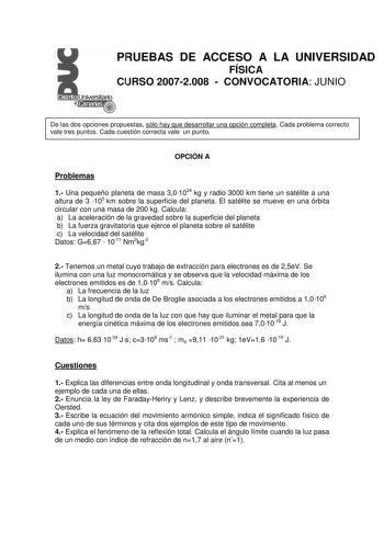 Examen de Historia del Arte de 2008 (selectividad de
