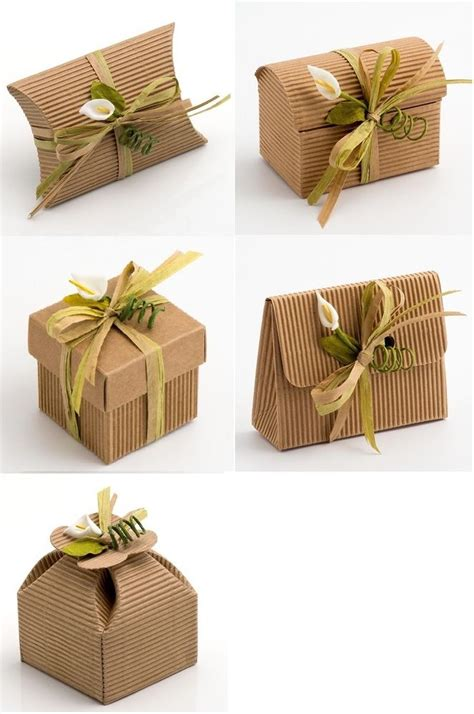 By Nature Launches Eco Wedding Gift List by Diy Kraft Corrugated Wedding Rustic Favour Gift