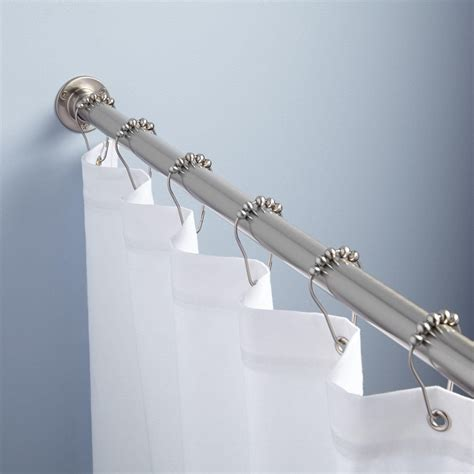straight shower curtain rod straight solid brass shower curtain rod bathroom