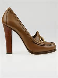 high heel loafers for gucci brown leather alyssa high heel loafers size 9 5 40