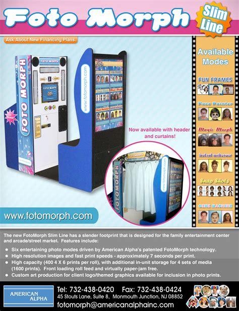 Fotomorph Slimline Booth Brochure Photo Booth Brochure Template