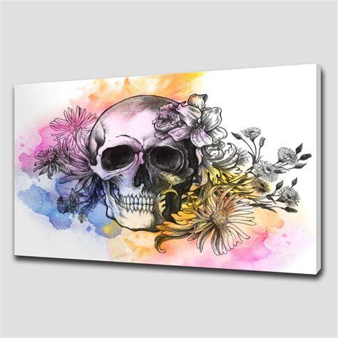 Floral Skull Large Canvas Wall Art Canvas Print Art Wall Decor Canvas Prints