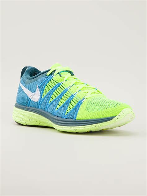 Nike Flyknit Lunar nike flyknit lunar 2 trainers in blue for lyst