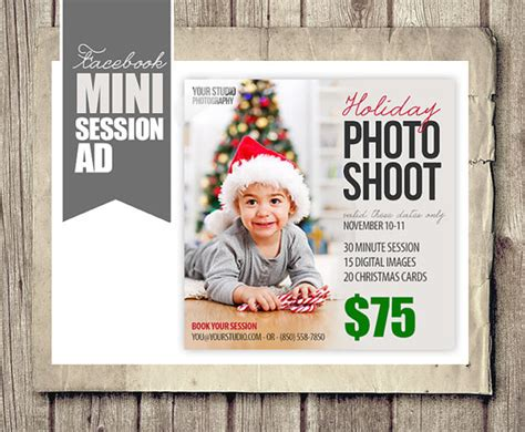 holiday christmas facebook ad photographer by studiotwentynine