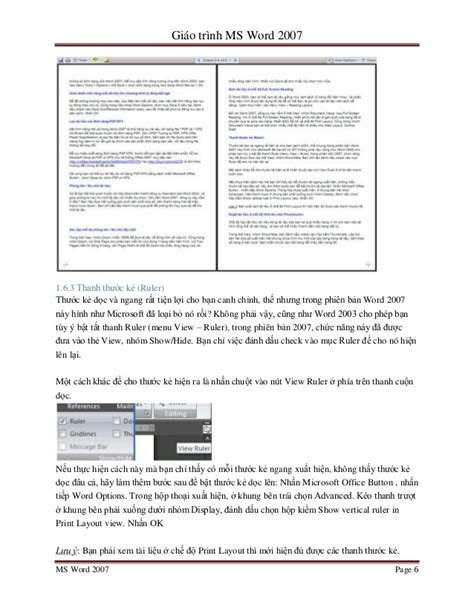 reading layout word 2007 ms word 2007