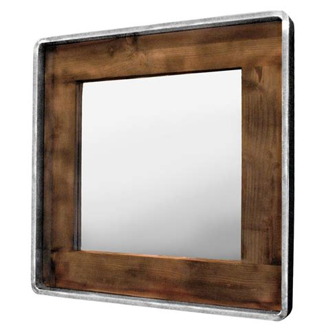 reclaimed wood mirror roosevelt rustic lodge reclaimed wood large square mirror