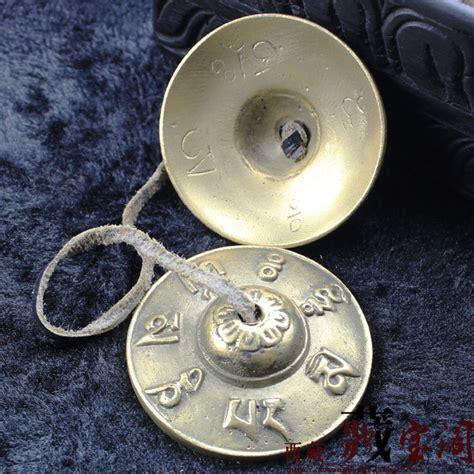 Handmade Cymbals - tibetan brass buddhist bells copper buddhist om cymbal
