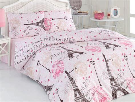 paris eiffel tower comforter set 100 cotton 4 pcs pink paris eiffel tower queen double