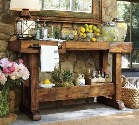outdoor buffet table serving cart this pottery barn sideboard for outdoor spaces