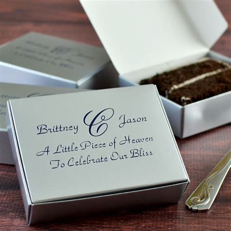 Boxes Wedding Cake by 5 X 4 Custom Printed Cake Slice Favor Boxes Set Of 50