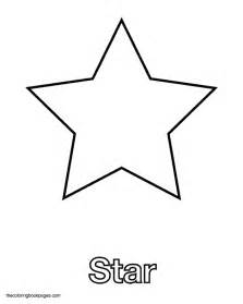 free star shape tracing coloring pages