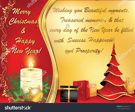 business new year greetings text business new year greeting card stock vector