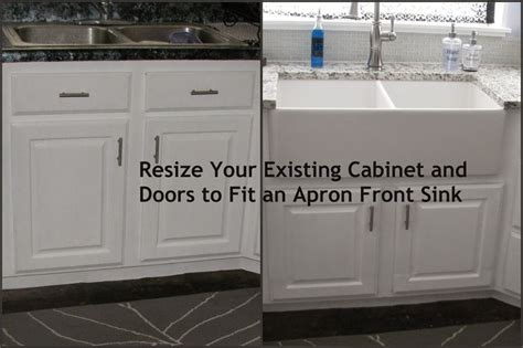 install farmhouse sink existing counter resize your existing cabinet and doors to fit an apron