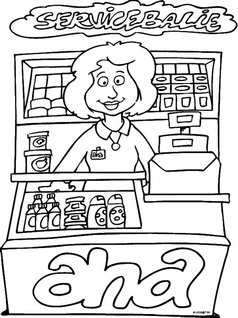 printable coloring pages grocery store kleurplaat supermarkt servicebalie kleurplaten nl