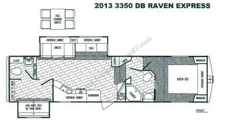 winnebago 5th wheel floor plans 2013 winnebago sunnybrook raven express 5th wheel 3350db floor plan arrrgh vees pinterest
