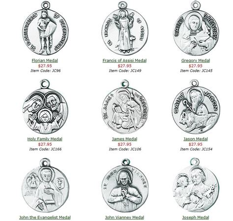 patron saints jewelry patron medals at