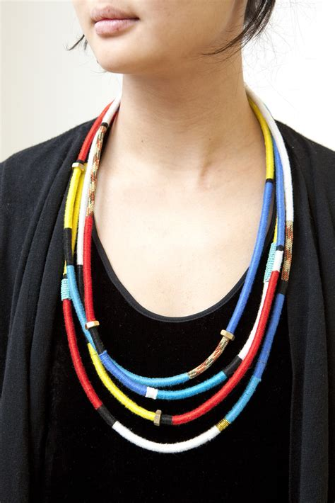 how to make rope jewelry 25 beautifully colorful diy necklaces