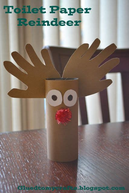 Reindeer Paper Crafts - top 20 winter themed toddler craft collection toilets