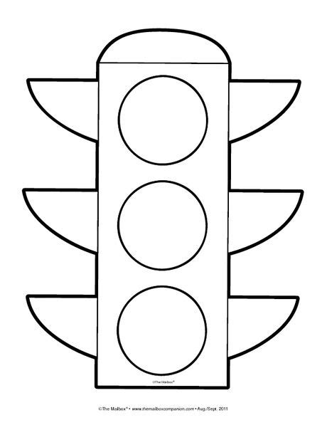 Traffic Light Template Traffic Light Coloring Page Template Coloring Pages