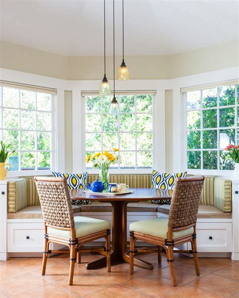 Ideas For Kitchen Window Curtains breakfast nook lighting kitchen contemporary with none