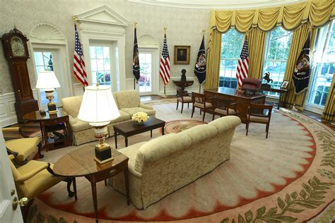 oval office renovation in pictures the oval office and west wing after