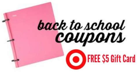 Gift Card Deals Target - target back to school deals 5 gift card reminder southern savers