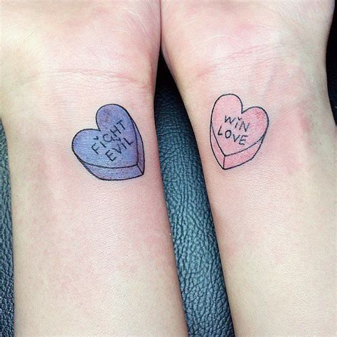 candy heart tattoo 27 best bff tattoos images on ideas