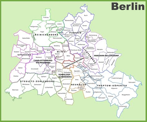 berlin on the world map berlin districts map