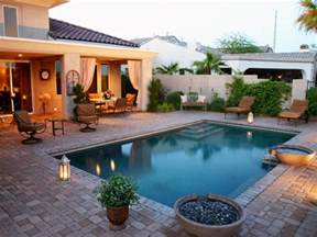 Patios And Pools by Stone Backyard Patio Hgtv Patio Designs With Pool Small