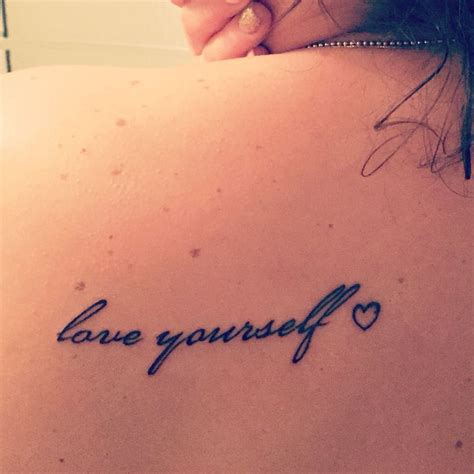 love yourself tattoos 21 best images on designs