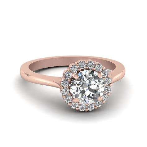 floating floral halo engagement ring in 14k white