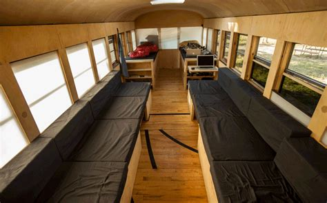 School Conversion Interior by Hank Bought A 3000 School Converted Mobile