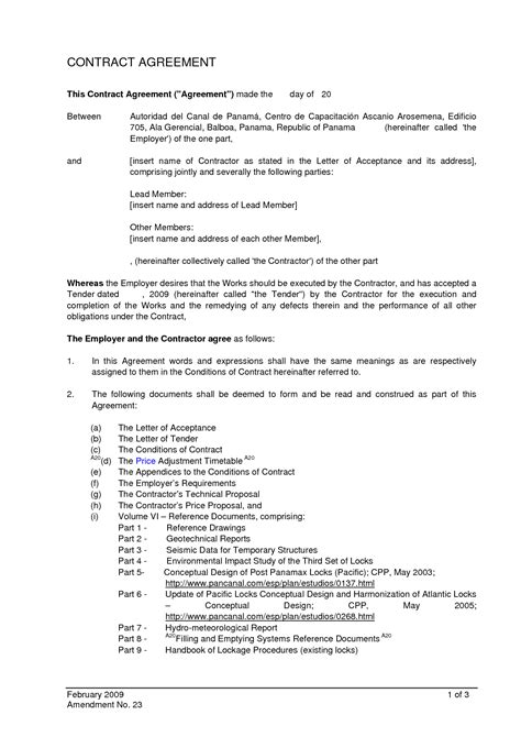 Agreement Letter Of Contract 10 Best Images Of Standard Letter Of Agreement Sle Sle Loan Agreement Letter Contract