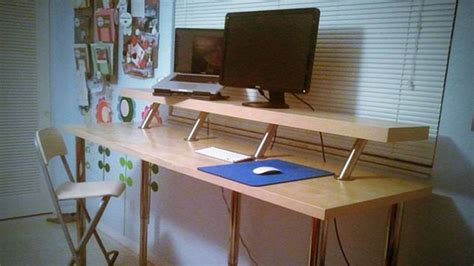 how to build an adjustable standing desk build a diy wide adjustable height ikea standing desk on