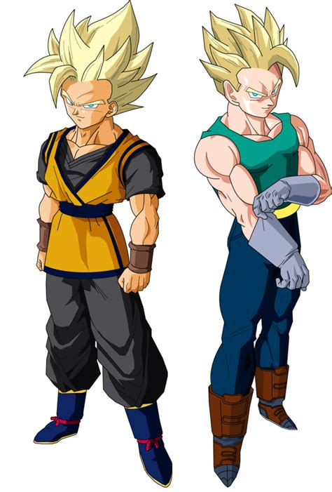 imagenes de goku jr de grande goken and nach super saiyans v1 by mad 54 on deviantart
