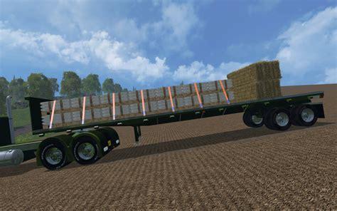 bed ls us flatbed trailer v 1 0 farming simulator 2017 mods