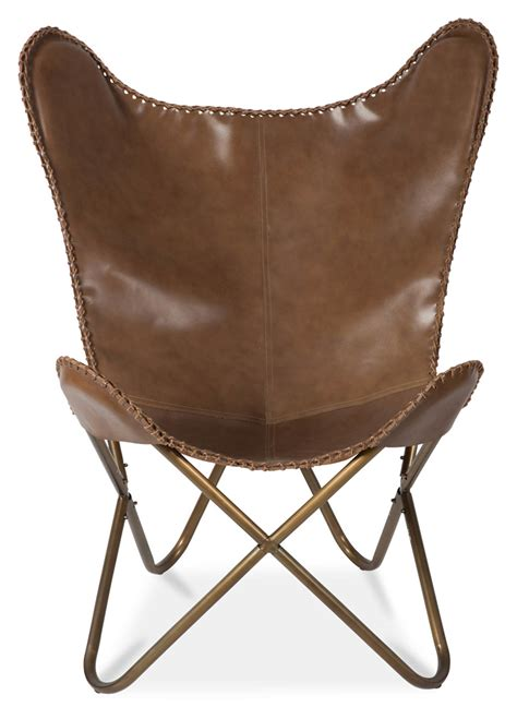 leather butterfly chair new leather butterfly chair ebay