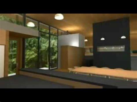interior casa moderna lago mp4