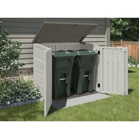 Outdoor Trash Storage Shed by Suncast Vanilla Resin Outdoor Storage Shed Common 53 In