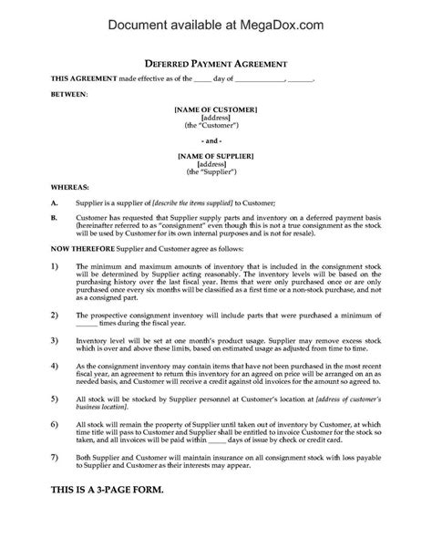 free consignment stock agreement template consignment stock agreement template sletemplatess