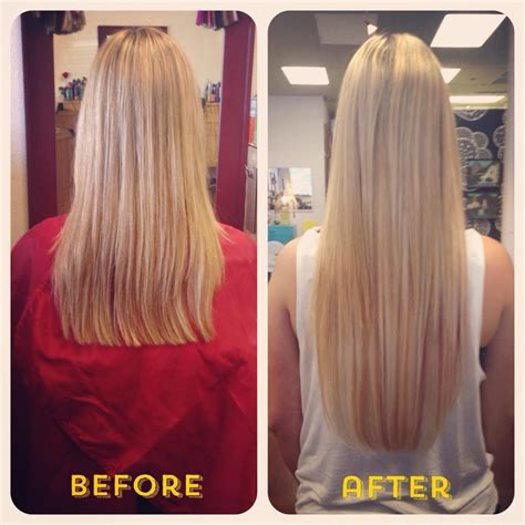 fusion hair extensions before and after before and after 5 bundles of 22 quot keratin fusion hair